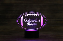 Groupon - Personalized LED color changing  sign - Football