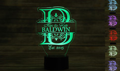 Groupon AU - Personalized LED color changing  sign - Imprint Initial