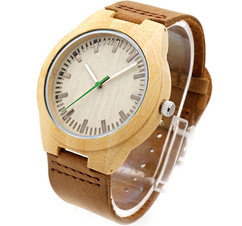 Wood Engraved Personalized Bamboo Watch W#64 - Ivory