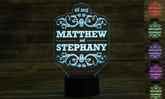 Groupon AU - Personalized LED color changing  sign - Couple Names