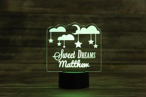 8fb869e9da Groupon AU -Personalized LED color changing sign - Sweet Dreams - Cabanyco