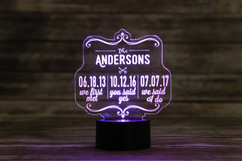 Groupon - Personalized LED color changing  sign - We first met