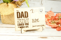 Groupon AU - Personalized Wood Standing Post Card - Dad