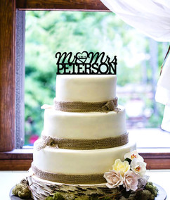 Groupon AU - Personalized Cake Topper - Mr & Mrs Name and Date