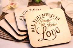 Groupon AU - Personalized Coaster Set - All You Need is Love
