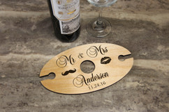 Groupon AU/NZ - Personalized Wine Caddy & Glass holder - Mr & Mrs