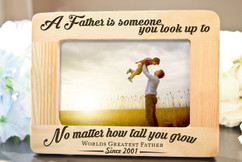Groupon AU/NZ  - Personalized Picture Frame - A Father is Someone