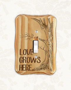 Personalized wood light switch -  Love Tree Grows