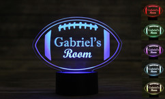 LUX - Personalized LED color changing  sign - Football
