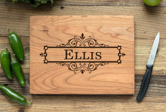 Cherry Personalized Cutting Board ~ Vine Box