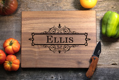 Walnut Personalized Cutting Board ~ Vine Box