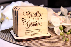 LUX  - Personalized Coaster Set - Stacked Name