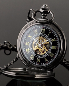 LUX  - Engraved Men Vintage Mechanical Pocket Watch W#52.5