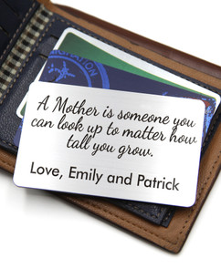Grpn UK - Personalized Wallet Card- A Mother Is