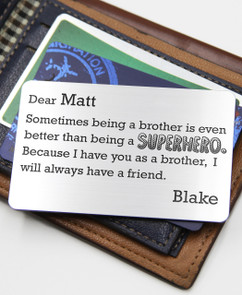 Grpn UK - Personalized Wallet Card - SuperHero Brother