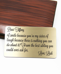 Grpn UK - Personalized Wallet Card- I Smile Because Sister