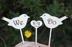 LUX  - Personalized Cake Topper - We Do Love Birds