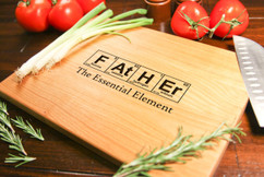 Cherry Personalized Cutting Board ~ Father Element Chemistry
