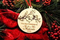 Personalized Christmas Ornament - First Christmas Birds