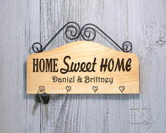 Grpn Italy - Personalized Family Key Holder - Home Sweet Home