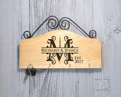 Grpn Italy - Personalized Family Key Holder - Initial