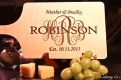 LUX - Personalized Serving Board - Monogram Family