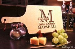 LUX - Personalized Serving Board - Horizontal Imprint Initial