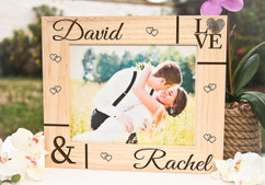 Personalized Picture Frame Ili1lI ~ Corner Names