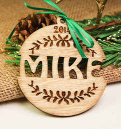 Grpn AU  - Personalized Ornament - Name Cutout