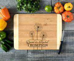 Center Dandelion Personalized Cutting Board HDS