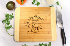 All We Need is Love Personalized Cutting Board HDS