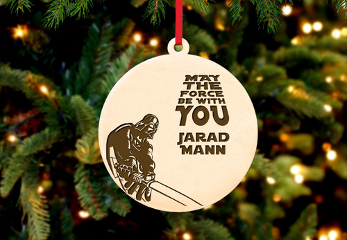 Personalized Christmas Ornament.Personalized Christmas Ornament Star Wars