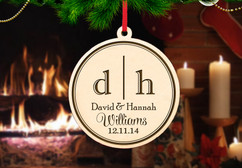 Personalized Christmas Ornament - Dual Initial