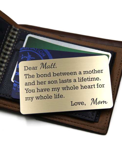 a40aefe97d Grpn BE - Personalized Wallet Card- Mother Son Bond - Cabanyco