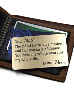 Grpn BE - Personalized Wallet Card- Mother Son Bond