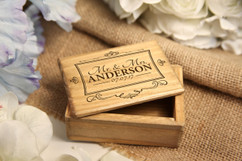 Grpn BE - Personalized Jewelry Box - Mr Mrs Square Vintage