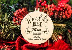 Grpn BE - Personalized Christmas Ornament - Worlds Best Mom