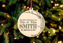 Grpn Be - Engraved Christmas Ornament -  Love Tree