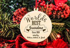 Personalized Christmas Ornament - World's Best Grandma