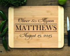 Stack Family Name Personalized Engraved Cutting Board HDS