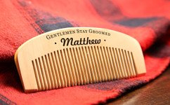 Grpn BE - Personalized  Comb - Gentlemen stay groomed