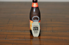 Personalized Leather Magnet Bottle Opener - Man Cave