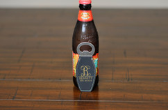 Personalized Leather Magnet Bottle Opener - Vine Initial