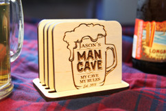 Grpn Italy  - Personalized Coaster Set - Man Cave