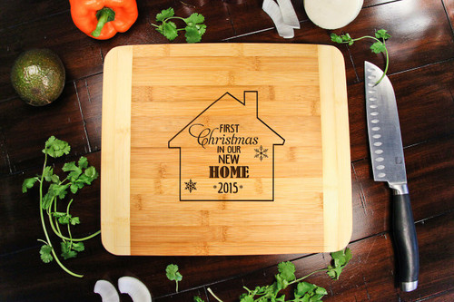339ee1e47b 1st Xmas New Home Personalized Cutting Board HDS - Cabanyco