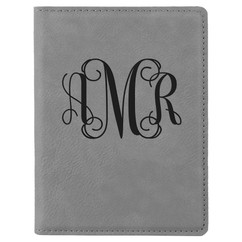 Grpn Italy - Personalized Leather Passport Wallet Holder - Monogram