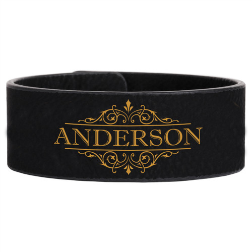 1f26ee4550 Grpn Italy - Personalized Leather Bracelet - Vine Name - Cabanyco