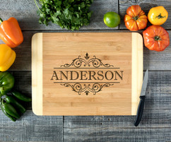 Vintage Family Personalized Cutting Board HDS