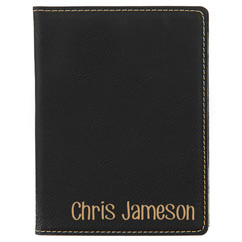 Grpn BE -  Leather Passport Wallet Holder - Corner Name