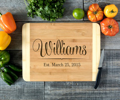 Cursive Name Personalized Cutting Board HDS